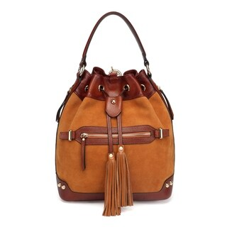 Sonia Suede Leather Bucket bag/ Backpack
