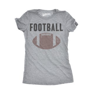 Womens Vintage Football Text T shirt