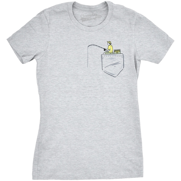 343a6ed0c200d Shop Womens Pocket Fisherman Funny T shirt - On Sale - Free Shipping On  Orders Over  45 - Overstock.com - 18655092