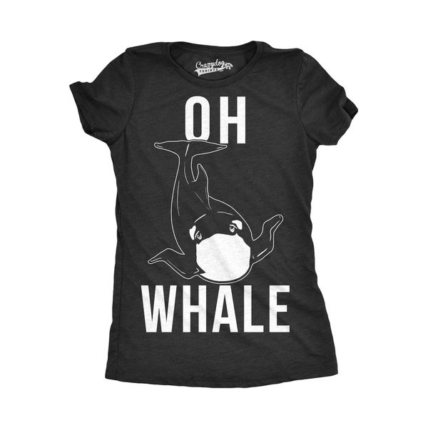 83bce03bc Shop Womens Oh Wha le Funny T shirt - Free Shipping On Orders Over  45 -  Overstock - 18655122