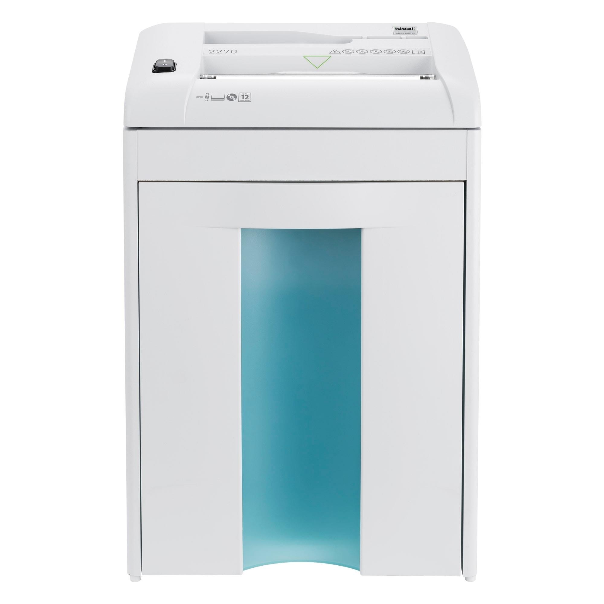 ideal. 2270 Strip-Cut Deskside Paper Shredder, White