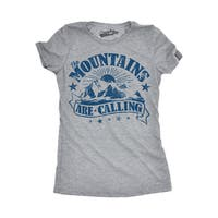 Womens The Mountains Are Calling T shirt