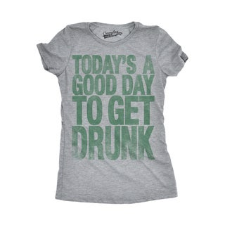 Womens Good Day To Get Drunk Funny Drinking Beer St. Patrick's Day T shirt