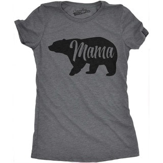 Womens Mama Bear Funny T Shirt for Moms Gift Idea Novelty Wild Animal Family Tee