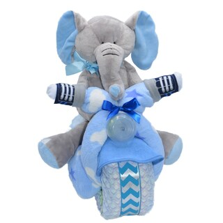 Blue Motorcycle Baby Boy Gift Set