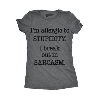 Womens Allergic To Stupidity T shirt