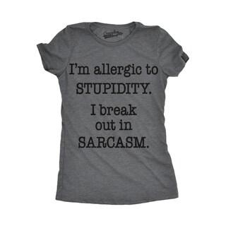 Womens Allergic To Stupidity T shirt