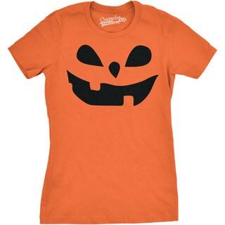 Womens Teardrop Eyes Pumpkin Face T shirt