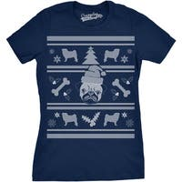 Womens Pugly Christmas Sweater Tshirt