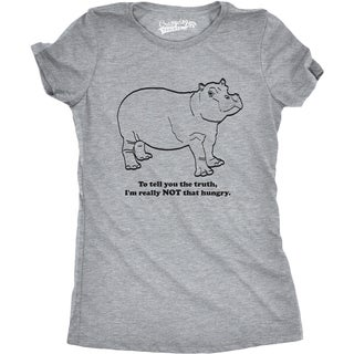 Womens Hippo Not That Hungry Tshirt