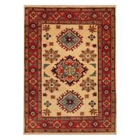Handmade Herat Oriental Afghan Hand-knotted Tribal Kazak Wool Area Rug - 2'10 x 3'10