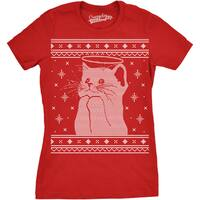 Womens Halo Kitty Ugly Christmas Sweater T shirt