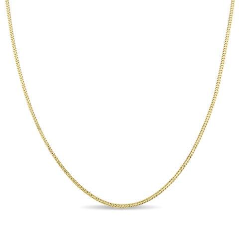 Miadora 10k Yellow Gold Franco Link 20-Inch Men's Chain