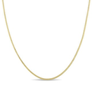 Miadora 10k Yellow Gold Franco Link 20-Inch Men's Chain
