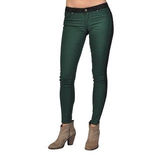 Tractr Fashion Pattern Design Black Green Jeans
