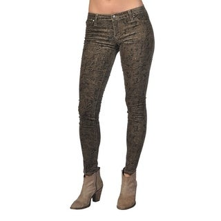 Tractr Fashion Pattern Design Brown Jeans (4 options available)