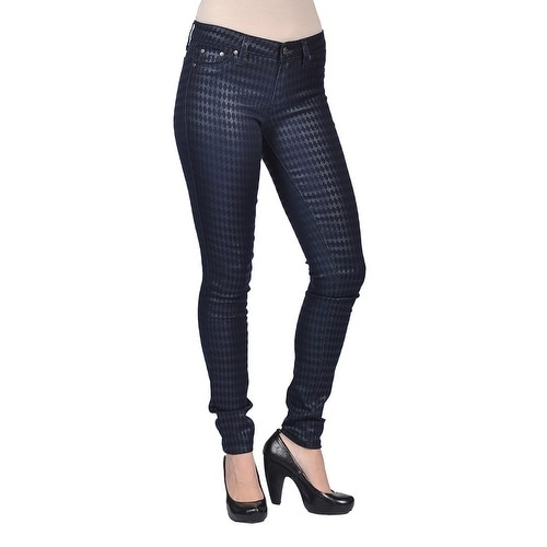 1544eda6e Shop Tractr Fashion Diamond Pattern Design Navy Jeans - Ships To ...