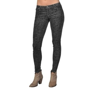Tractr Fashion Pattern Design Gray Skinny Jeans