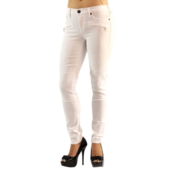 8eaf93844 Shop True Religion Mid Rise Skinny Halle 2 Front Faux Zipper Pocket ...