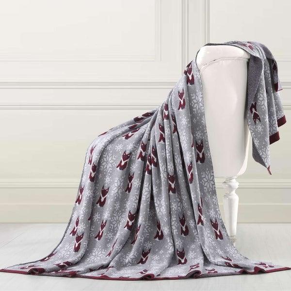 Shop Amrapur Overseas Holiday Jacquard Throw Blanket On Sale Custom Luxury Throw Blanket By Amrapur