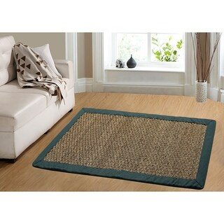 Coastal Seagrass Teal Area Rug - 5' x 7'