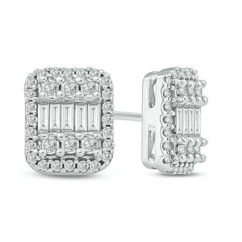 Cali Trove 1/2ct TDW Diamond Stud Fashion Earring In 10kt White Gold