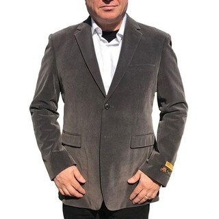 Single Breasted 2-Button Blazer In Grey with Notch Lapel (Option: 4xl)