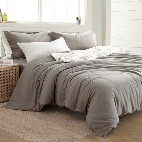 Modern Threads Linen-Cotton Blend 3-Piece Duvet Set