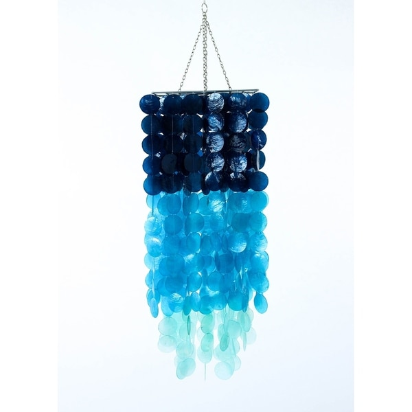 Three Color Capiz Mini Chandelier