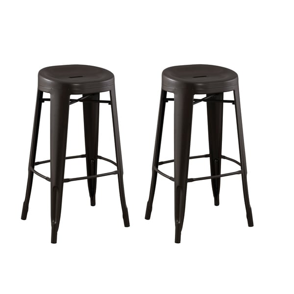 Acessentials Quinn Contoured Seat Round Backless Barstool 2pk 29
