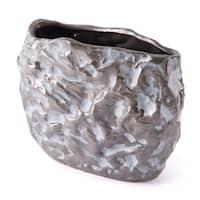 Stones Sm Vase Metallic Brown & White