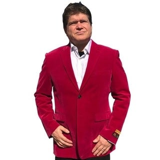 Single Breasted 2-Button Blazer In Fuchsia Pink with Notch Lapel