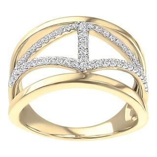 Boston Bay Diamonds 10K Yellow Gold 1/4ct TDW Diamond Ring - White