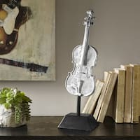 Madison Park Violin Silver Decor