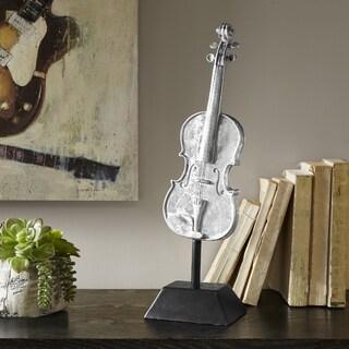 Madison Park Violin Silver Decor