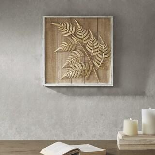 Madison Park Fer Brown/ Gold Leaf Cluster Decor