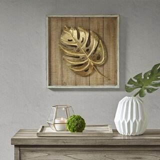 Madison Park Monstera Gold Leaf
