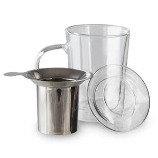 12 Oz Glass Tea Cup - Tea Infuser - Stainless Steel Tea Strainer https://ak1.ostkcdn.com/images/products/18656359/P24751129.jpg?impolicy=medium