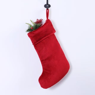 Red VelvetLoft Christmas Stocking