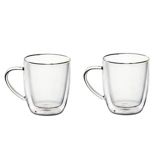 20 OZ Set of 2 Borosilicate Glass Coffee Mugs With Handles