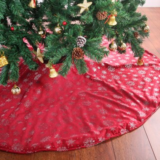 Silver Snowflake Tree Skirt