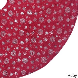 Silver Snowflake Tree Skirt