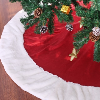 Red and White Holiday Tree Skirt