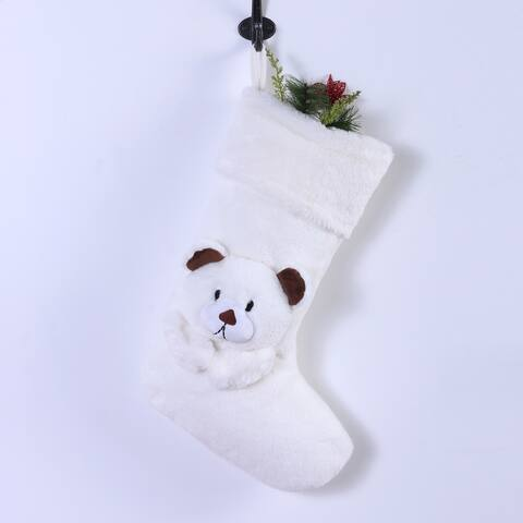 Grace Fur Polar Bear Christmas Stocking