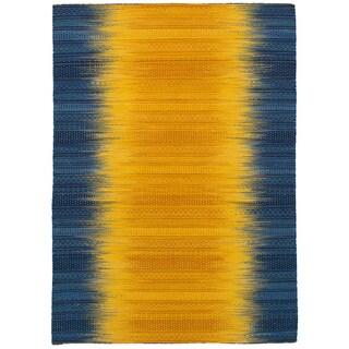 eCarpetGallery Flatweave Sedona Yellow Wool Kilim (5'4 x 7'7)