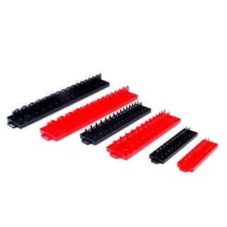 Steel Core 6pc Socket Tray / Organizer Set, SAE/Metric