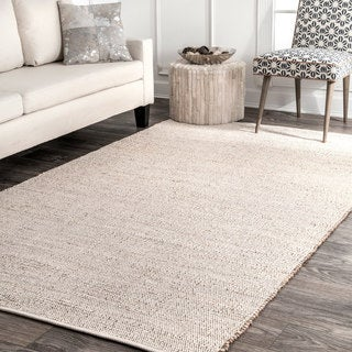 nuLOOM Handwoven Natural Fiber Jute/Cotton Area Rug