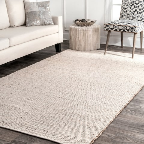 nuLOOM Handwoven Natural Fiber Jute/ Cotton Area Rug
