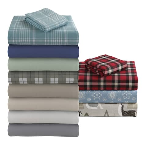 Asher Home Genevieve 100% Cotton Flannel Bed Sheet Set