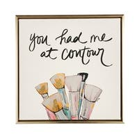 Boston Warehouse 12x12 Framed Canvas Art, You Had Me At Contour